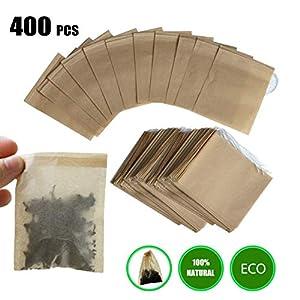 bolsas vac/ías para t/é suelto 7 x 9 cm de material natural 200 bolsas de filtro de t/é desechables con cord/ón