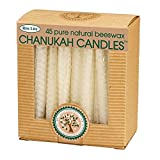 45ct Eco-Friendly Natural Beeswax Chanukah Hanukkah Menorah Candles 4''