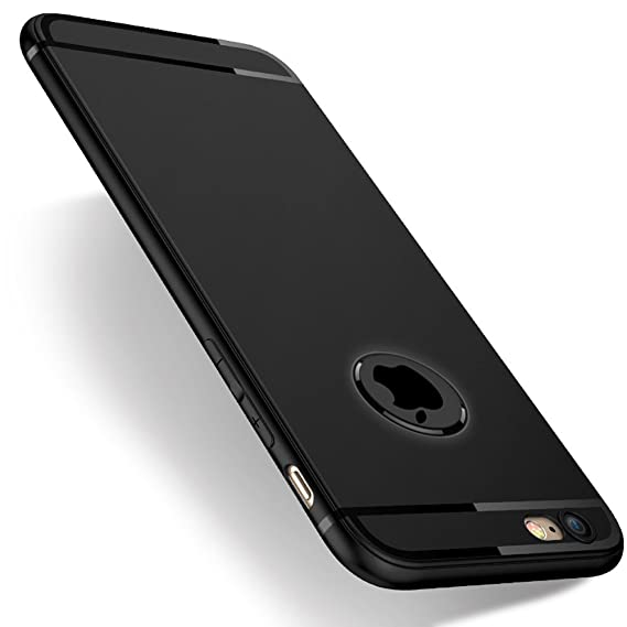 huge discount f9c87 248cf iPhone 6s Case, iPhone 6 Case, Novo Icon Slim Fit Shell Hard Plastic Soft  Feeling Full Protective Anti-Scratch Cover Case -Black