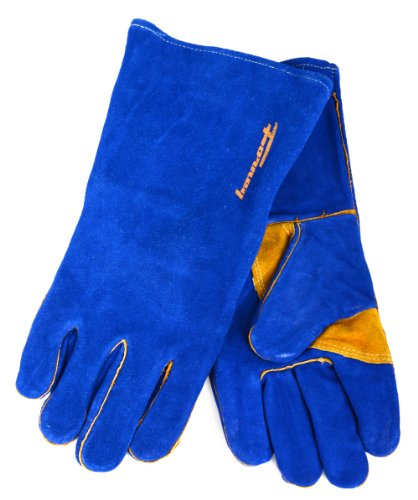Forney 53423 Blue Leather Heavy Duty Men