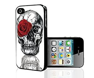 Skull with a Red Rose Hard Snap on Phone Case (iPhone 5/5s)