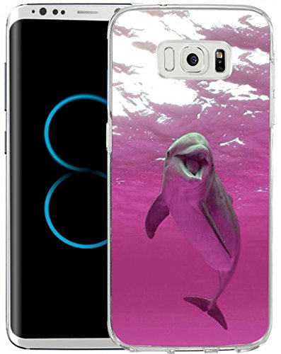 Case Pink Dolphin (S8 Case,Samsung Galaxy S8 Case TPU Non-Slip High Definition Printing Pink dolphins)
