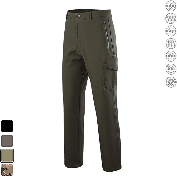 Freiesoldaten Uomo Softshell Vello Foderato Impermeabile Pantaloni Escursionismo Sciare Caldo Inverno Allaperto Pantaloni