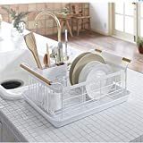 Pinjewelry Convenient and Practical Wrought Iron Dish Rack Drain Rack Kitchen Cutlery Racks Tableware Storage Dish Rack draining Filter Bowling Box