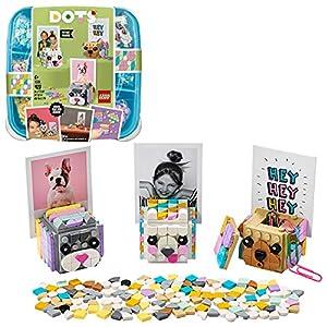 LEGO DOTS PortafotodeiCuccioli, Accessori da Scrivania Fai da Te, Set di Decorazioni DIY, Kit Artistici per Bambini, 41904  LEGO