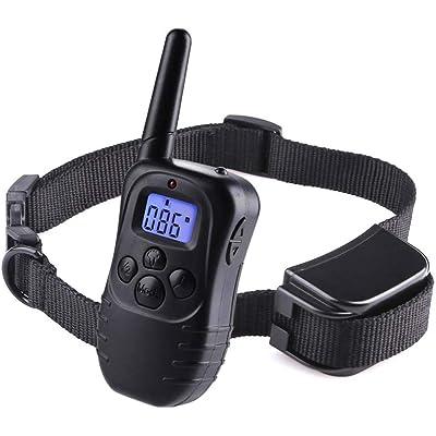 Wodondog Collar de Adiestramiento para Perros Recargable y Resistente al Agua con vibración y Sonido, Rango Remoto de 300 Metros