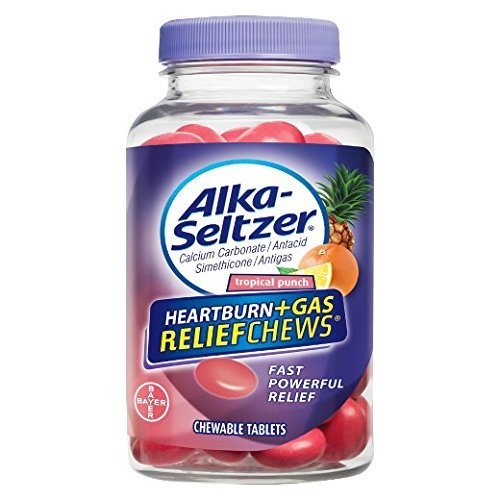 Alka-Seltzer Relief Chews Heartburn + Gas Tropical Punch, 82 ()