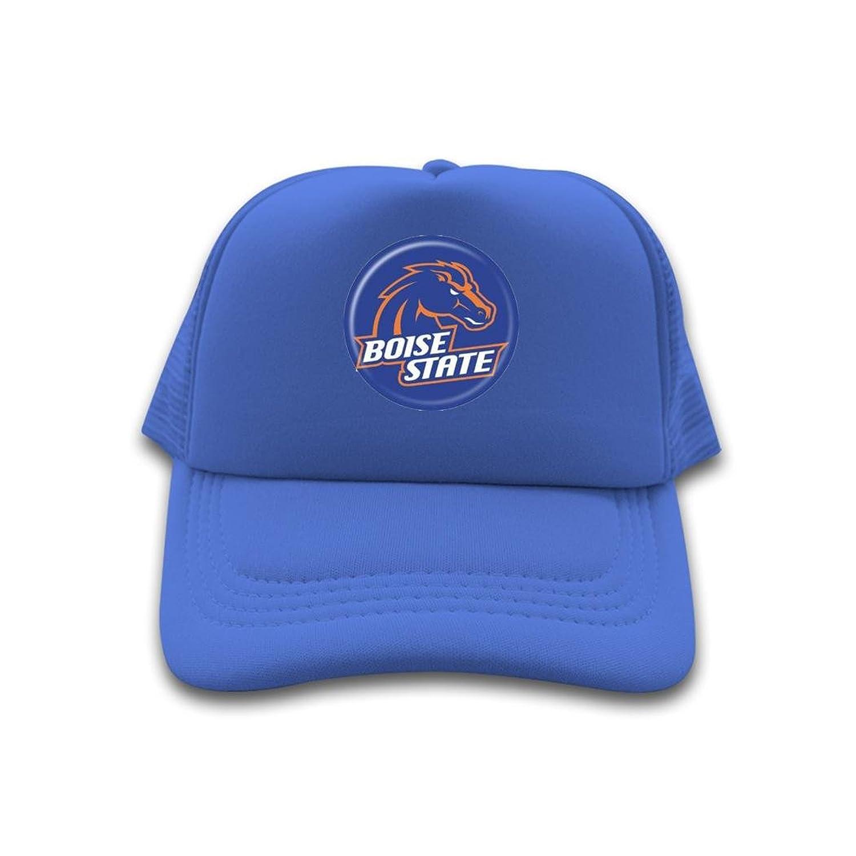 Nice Cotton Men Women Trucker Hat 2016 College Boise State Broncos Logo Adjustable Cute Sun Cap