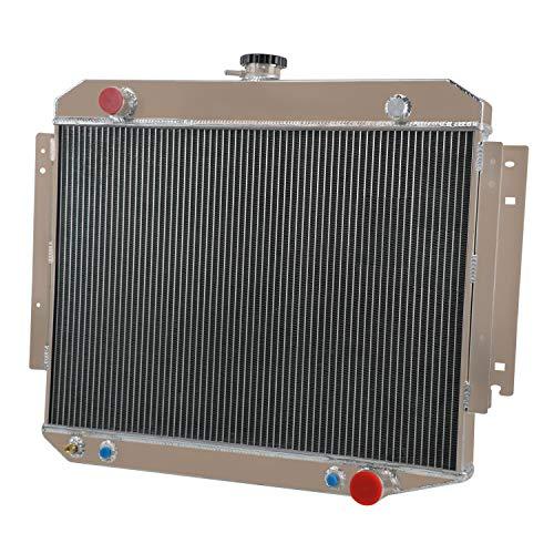 OzCoolingParts 3 Row Core All Aluminum Radiator for 1971-1979 72 73 75 76 77 78 Dodge D100 D150 D200 B100 B200 B300 Van W100 W150 W200 Ramcharger Pickup V8