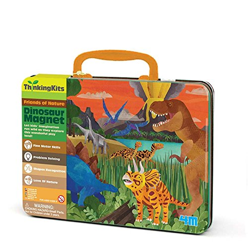 Bunt 4M 00-04705 Thinkingkits-Illustration Magnet-Dinosaurs