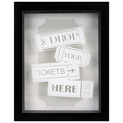 Americanflat 7x9 Inch Drop Your Ticket Here Shadow Box Frame
