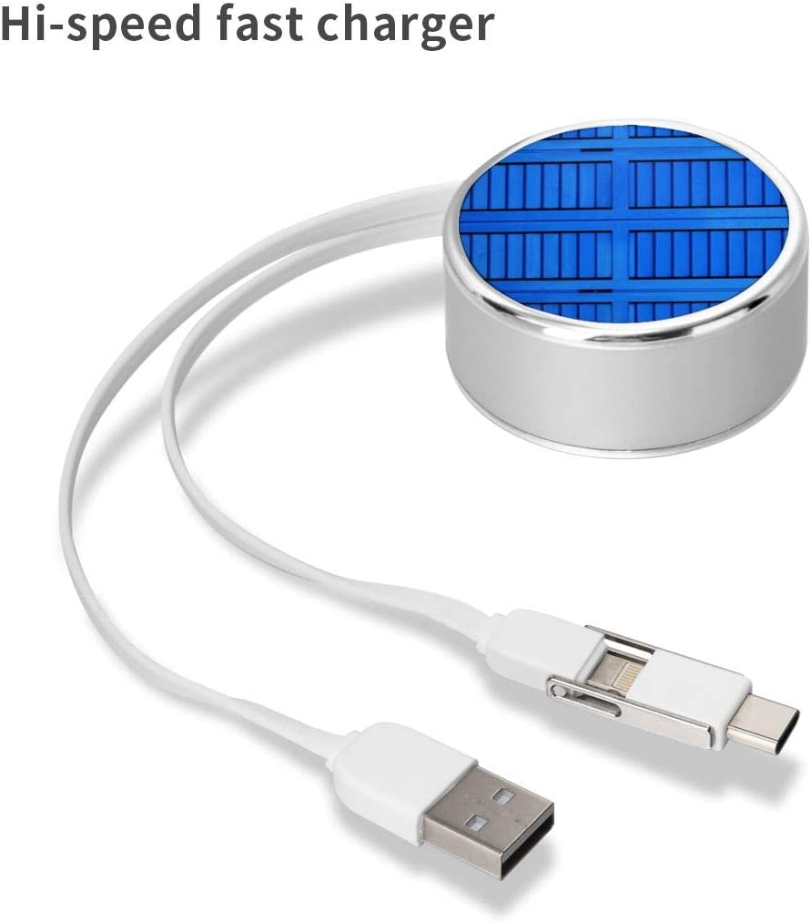 Round USB Data Cable Charging Cable Can Be Charged and Data Transmission Synchronous Fast Charging Cable-Blue Wooden Cabinet