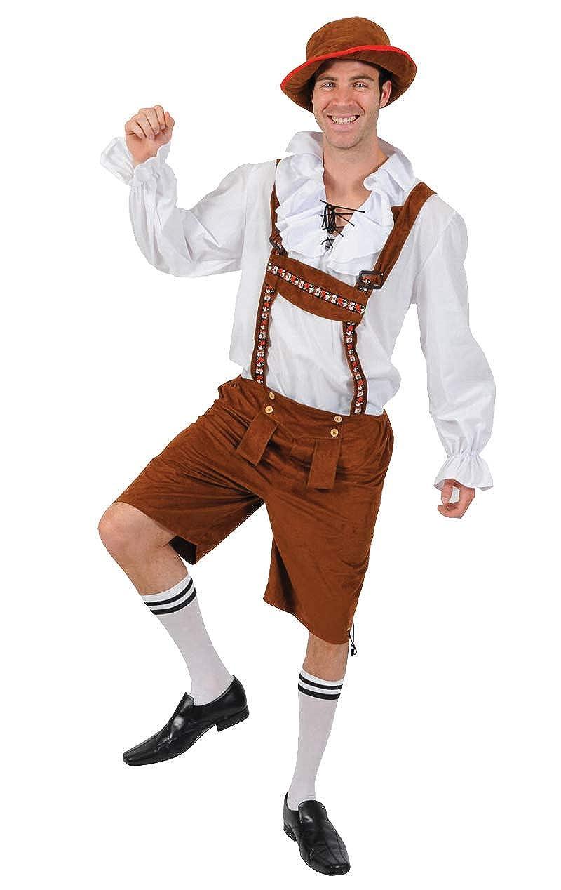 Mens Bavarian German Oktoberfest Beerfest Fancy Dress Costume Adults Outfit