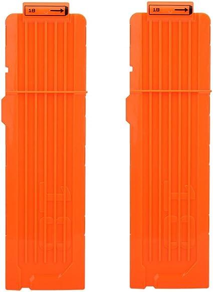 12 Darts Bullets Magazine Clip System for Elite Toy Gun Orange USA