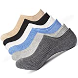 McoolMary Mens No Show Low Cut Socks Pure Color Organic Socks 6 Pack
