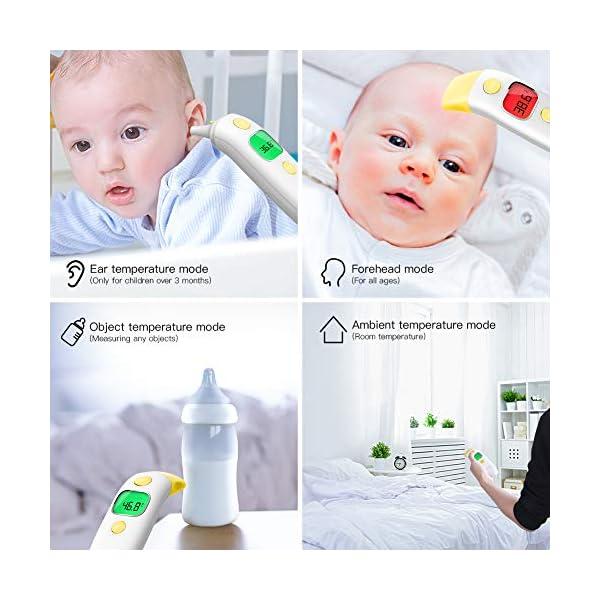 CocoBear Termómetro Digital Bebé, Termómetro Infrarrojos, Frente y Oído, Bebé y Adultos 4 en 1 Termómetro Infrarrojo en… 4