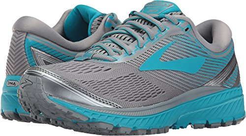 Brooks Women's Ghost 10 Primer Grey/Teal Victory/Silver 12 D US