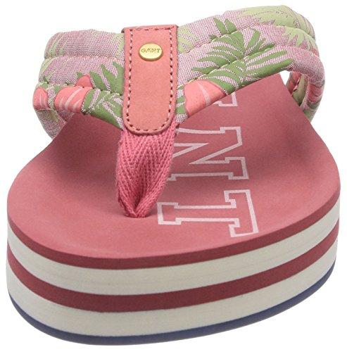 mujer Mules Rosa Malibu G37 Flower Vintage Gant rosa Coral para q1RPH