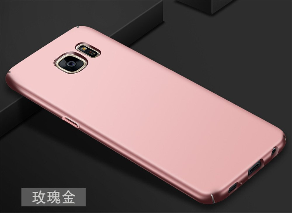 Galaxy S7 Case Ultra-thin Metallic Texture Anti-fingerprint//skid//fade Protective PC Back Phone Cover Case for Samsung Galaxy S7 G9300 G930F G930A G930V G930M SKIN TOUCH FEEL Heyqie Gold
