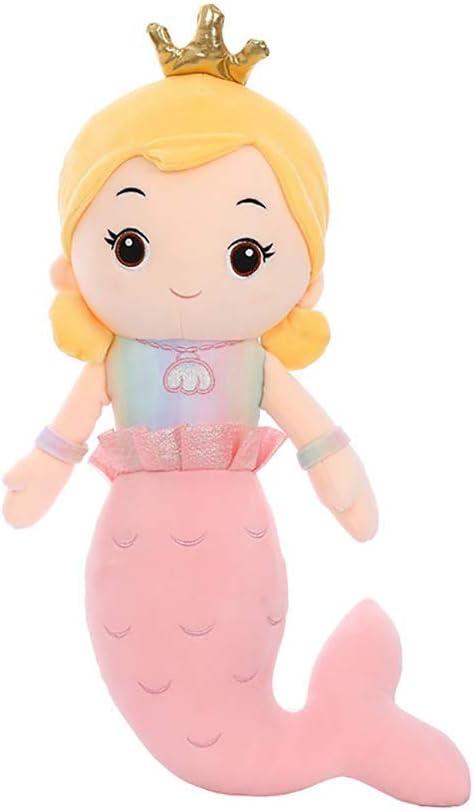 WZNING Sirena Lindo Peluche de Juguete Figuras Princesa Sirena muñeca Almohada Colegiala Suaviza muñeca Ragdoll Relleno Suave Felpa calmante Juguetes Rellenos de los muñecos de Peluche Animal