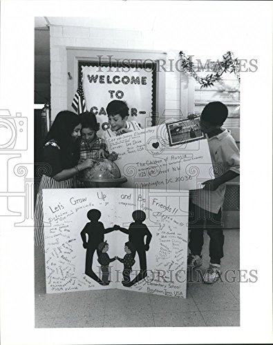 1987 Press Photo Students, Carver Jones Elementary Schools, Baytown, - Texas Baytown Of Pictures