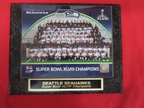 Seattle Seahawks Super Bowl XLVIII Champions Engraved Collector Plaque w/8x10 Team (Champions Team Plaque)