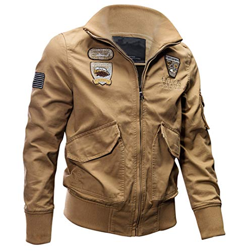 Men's Military Army Pilot Jacket Spring Autumn Cargo Outerwear Coat Tactical Air Force Cotton Jackets