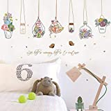 Home Decor PVC DIY for Kids Room Sticker Cartoon Flower Pot Basket Wall Stickers Dormitory Decoration Stickers Baby Bedroom Bedside Background Wall Stickers