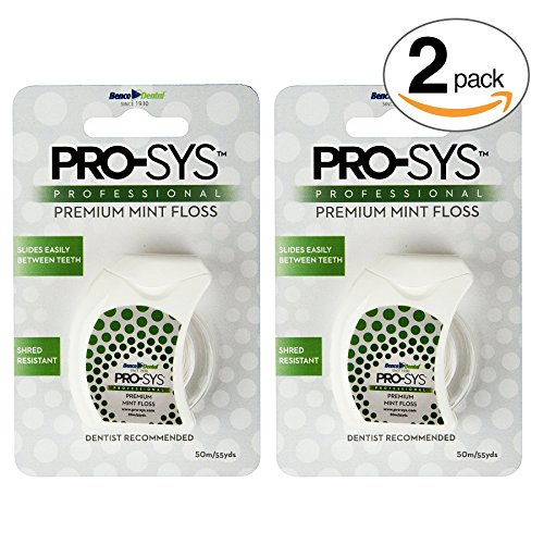 Fine Floss - PRO-SYS Premium Mint Dental Floss – 2 Pack of Dental Floss (110 Yards Total)
