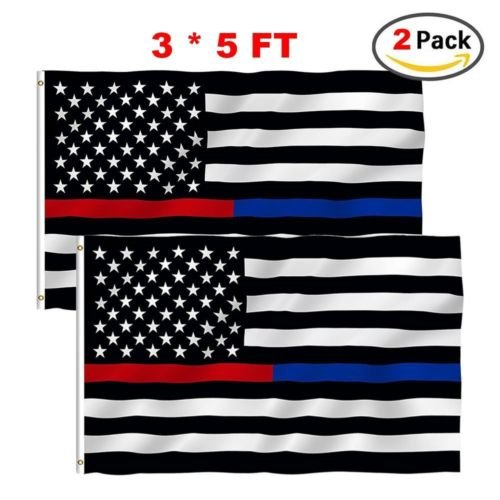 They can be used indoors or outdoors.Thin Blue Red Line Flag