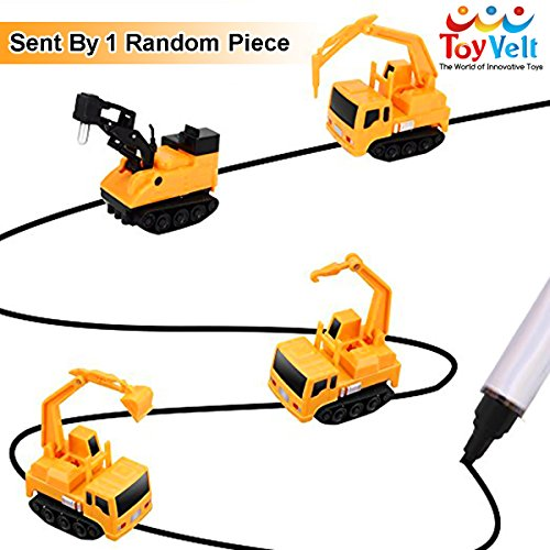 Train Set Pass (Inductive Toy Truck - Toddler Boys Sensory Toys For Three Year Old & Up - Follows Black Line Engineering Toys - Magic Pen & Excavator Toy Truck – Best Gift for Kids & Children – Batteries Included 1pc)