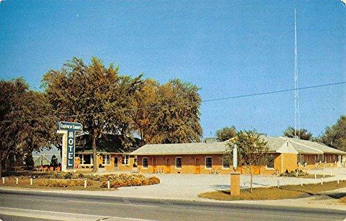 Kankakee Illinois Fairview Courts Motel Street View Vintage Postcard K35734