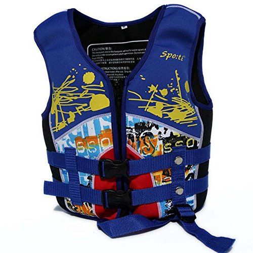 Rayma 2016 Children Buoyant-aid Folding Life Jacket/life Vest Dynamic And Brightly colored Swimming Suit For Water Sports & Games Safety Swimsuit (Blue)