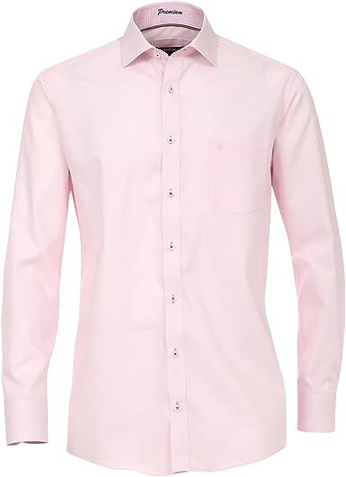 XXL Casamoda Camisa Manga Larga Rosa con Estructura Fina ...