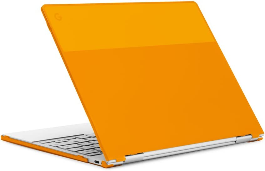 "mCover Hard Shell Case for 12.3"" Google Pixelbook Chromebook (NOT Compatible Older Model Released Before 2017) laptops (Orange)"