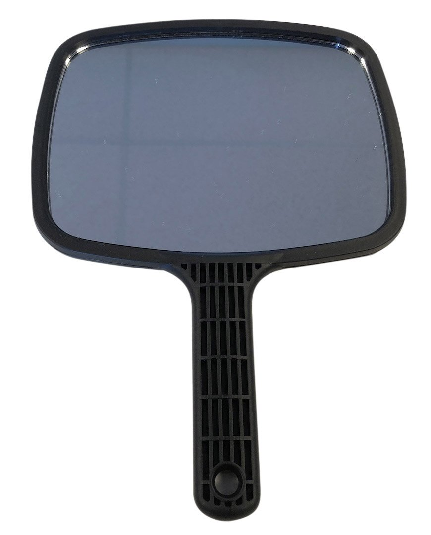 DevLon Northwest Hand Held Mirror Large Mirror Professional Salon Barbers Hairdresser Mirror with Black Handle