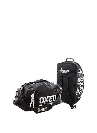 d05cbfe242 BOXEUR DES RUES Unisex's Fight Activewear Series Gym Bag, Black, One ...