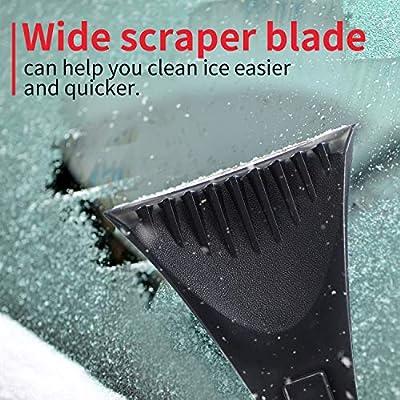Mudder 2 Pieces Snow Ice Removal Tools Foam Handle Snow Scraper Plastic Mini Frost Snow Scraper Snow Ice Scraper Kit for Car Windshield and Window, Black: Automotive