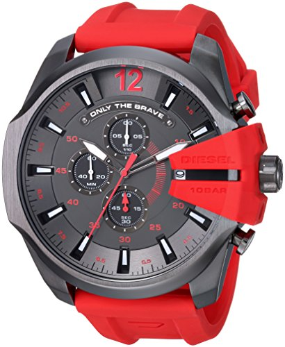 diesel-mens-dz4427-diesel-mega-chief-gunmetal-ip-red-silicone-watch
