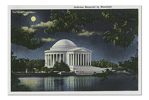 (Washington DC - Exterior View of the Jefferson Memorial at Night (20x30 Premium 1000 Piece Jigsaw Puzzle, Made in USA!) )