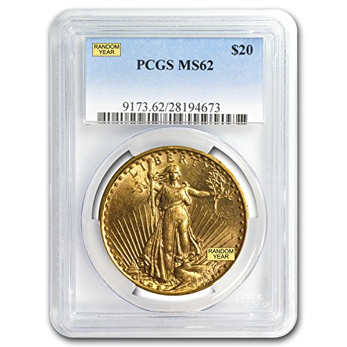 1907 – 1933 $20 Saint-Gaudens Gold Double Eagle MS-62 PCGS G$20 MS-62 PCGS