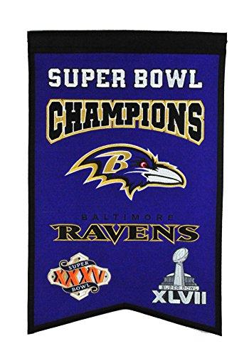 NFL Baltimore Ravens Super Bowl Champions Banner