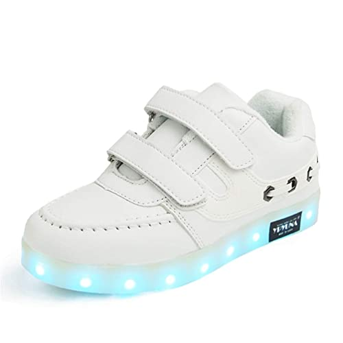 Sneakers Usb Bambini Borse Led E Pelle Scarpe Ragazzi Outdoor Caricabatterie Amazon Party Luminose Low Top it Incandescente Ragazze 681w8q