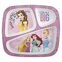 Zak Designs Princess 3 divisiones de placa dividida para niños pequeños, princesa