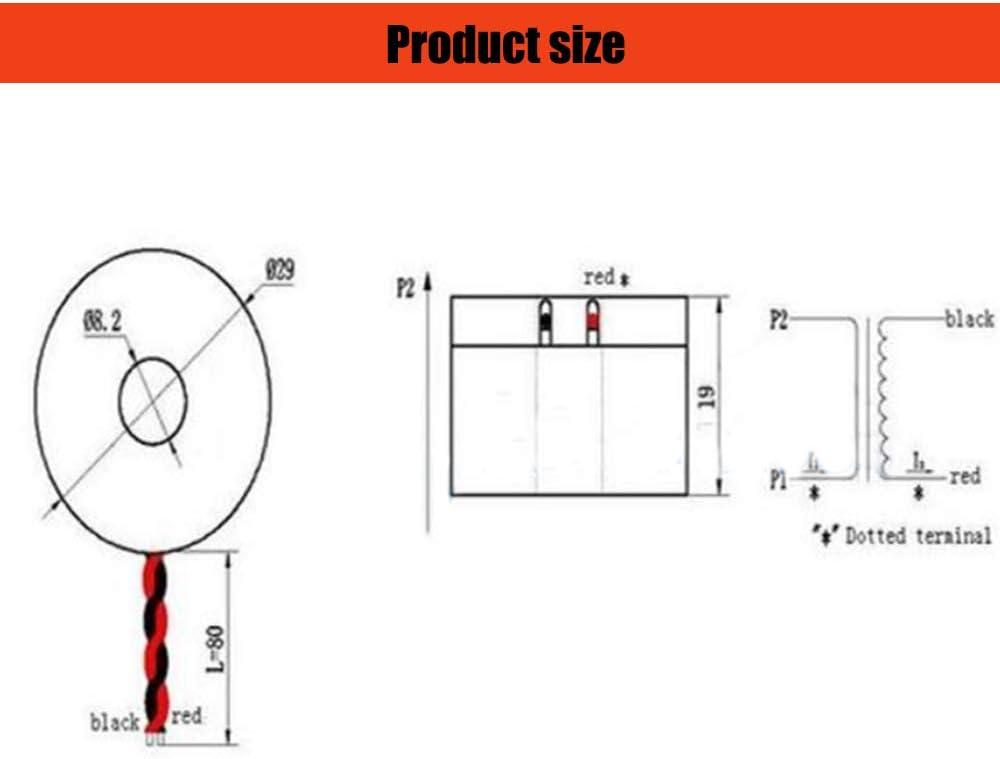 Comimark 2Pcs DL-CT08CL5-20A//10mA 2000//1 0~120A Micro Current Transformer