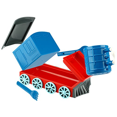 KidsFunwares Chew-Chew Train Place Setting, Blue - Transforms from a Train into a Functional Meal Set - Includes Bowl, Small Plate, Plate, Fork, Spoon, and Cup - Great Gift for Kids - Dishwasher Safe by KidsFunwares (Image #4)