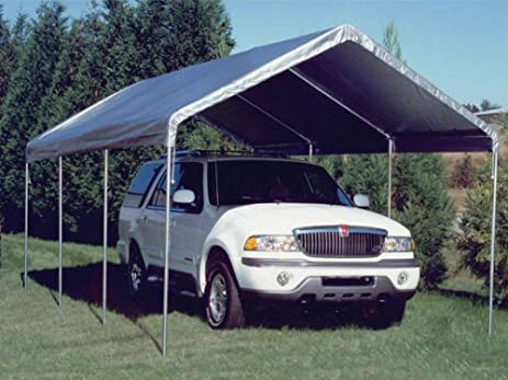 10 Foot x 20 Foot Universal Canopy Silver Top & Amazon.com: 10 Foot x 20 Foot Universal Canopy Silver Top: Home ...