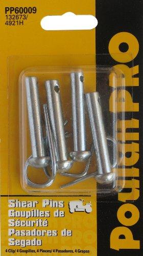 4 Pk, 132673 Shear Pin, 3146R Clips, Craftsman, Poulan, (Tiller Pin)