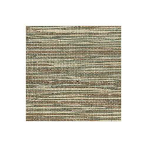 - York Wallcoverings NZ0795 Grasscloth Wallpaper by Raw Jute , Blue/Green, Beige, Tan, Browns