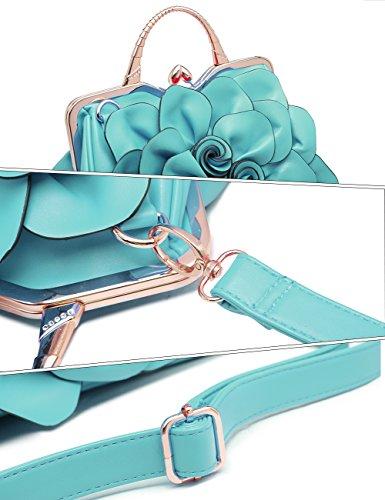 Pochette Bleu femme Noir Hei Handbag 9156 Noir BEST pour WORLD BESTURN Cqvwx5ZvA